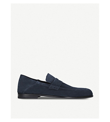 HARRYS LONDON Edward suede loafers (Navy