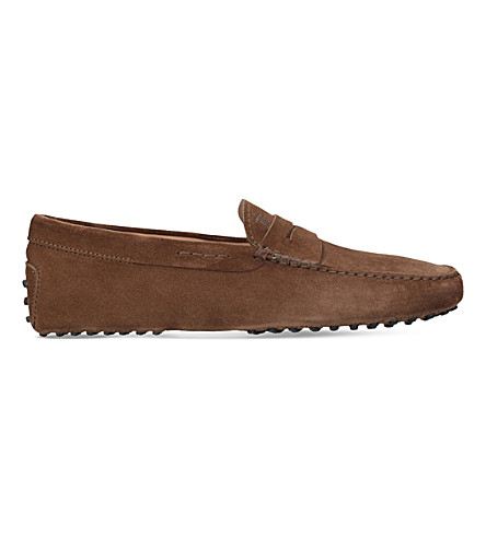 TODS Gommino suede driver shoes (Tan