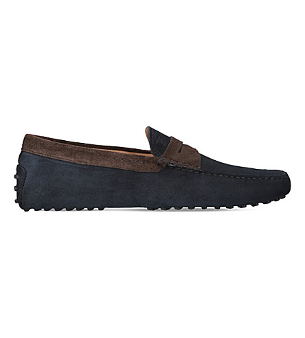 TODS Gommino suede driver shoes (Blue/drk.c
