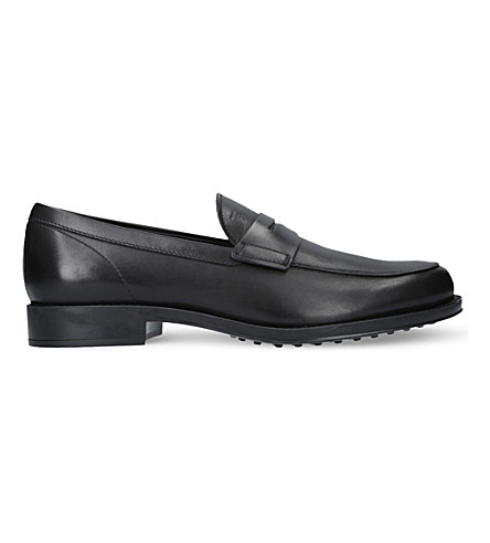 TODS Penny leather loafers (Black