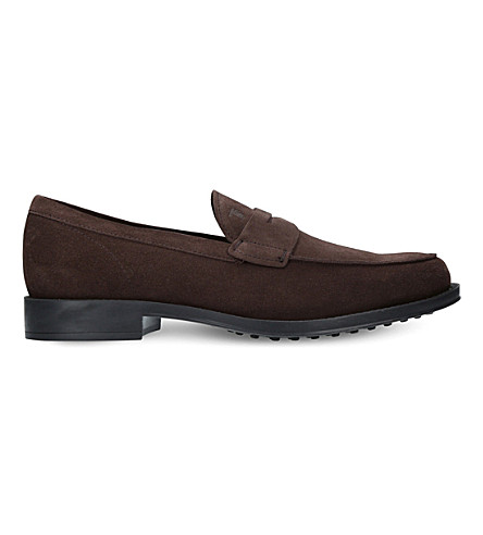 TODS Penny suede loafers (Brown