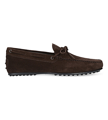 TODS City suede driving shoes (Brown