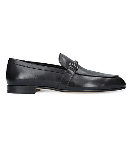 TODS Leather moccasins (Black