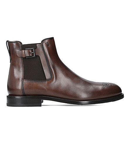 TODS Buckled leather chelsea boots (Brown