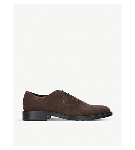 TODS Derby suede shoes (Brown