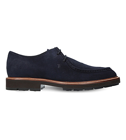 TODS Paraboot suede Derby shoes (Navy