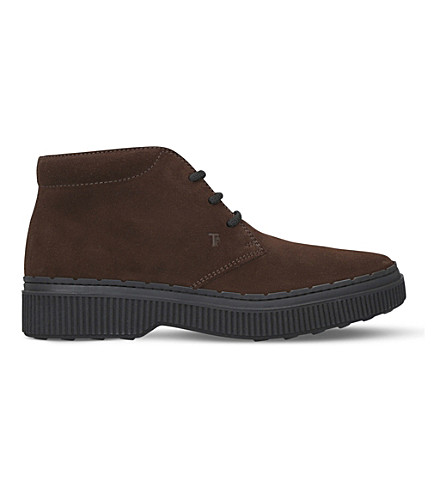 TODS NWG suede chukka boots (Brown