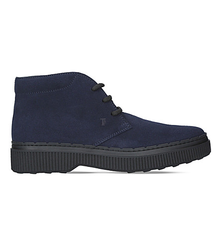 TODS NWG suede chukka boots (Navy