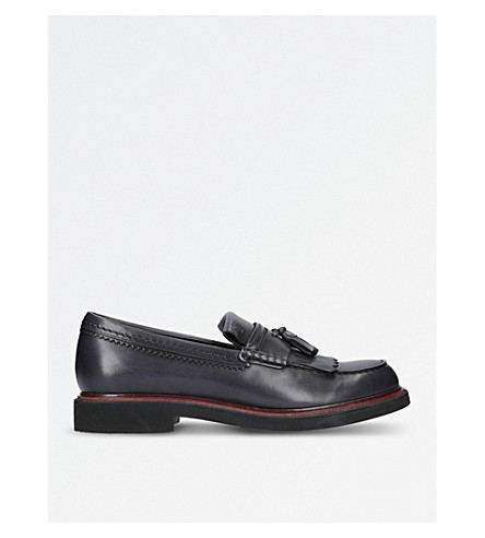 TODS Climb leather loafers (Grey
