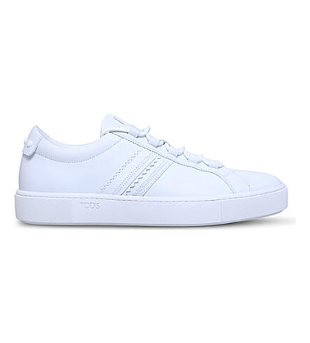 TODS Low-top leather trainers (White