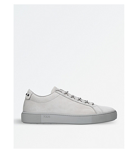 TODS Cassetta suede low-top trainers (Grey