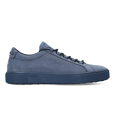 TODS Cassetta suede trainers (Navy