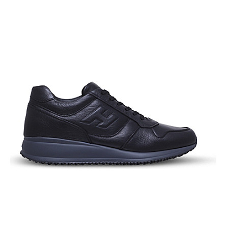HOGAN Interactive N20 leather trainers (Black