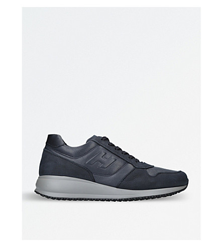 HOGAN Interactive N20 leather trainers (Navy