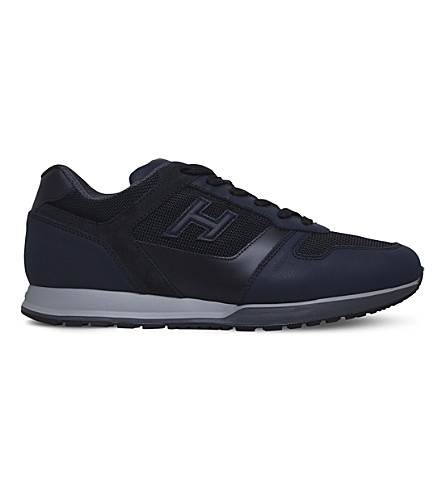 HOGAN H321 leather and mesh trainers (Blue