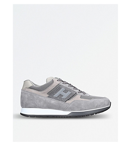 HOGAN H321 suede and mesh trainers (Grey