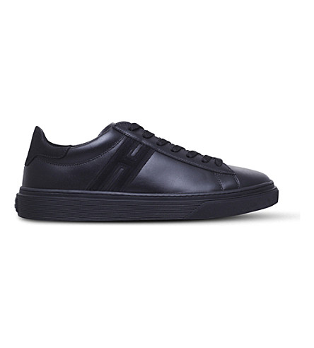 HOGAN H340 leather and mesh trainers (Black