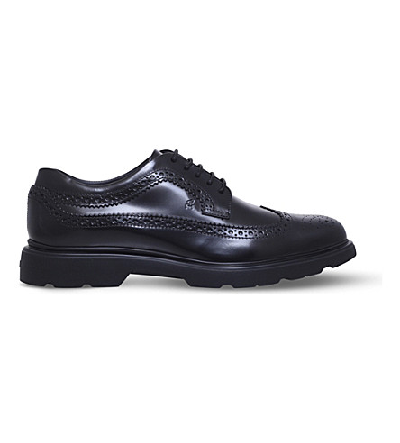HOGAN H304 New Route leather Derby shoes (Black
