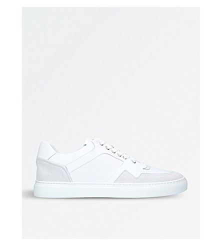 HARRYS LONDON Galaxy leather trainers (White