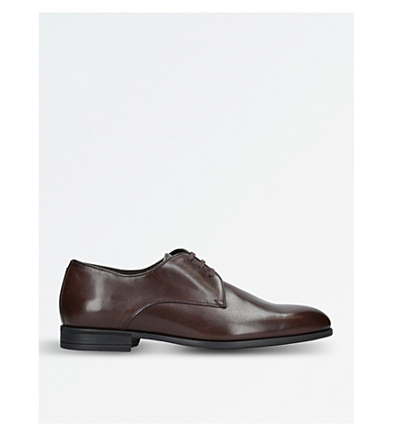 HARRYS LONDON Christopher leather Derby shoes (Brown