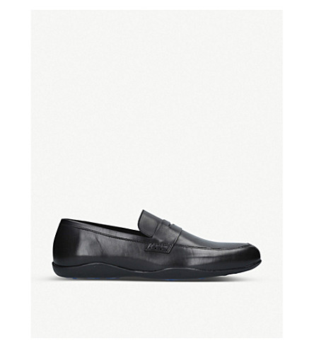 HARRYS LONDON Downing leather loafers (Black