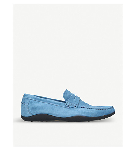 HARRYS LONDON Basel suede loafers (Blue