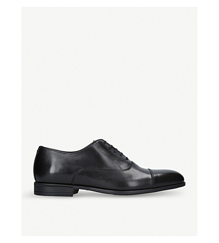 HARRYS LONDON Charles leather Oxford shoes (Black