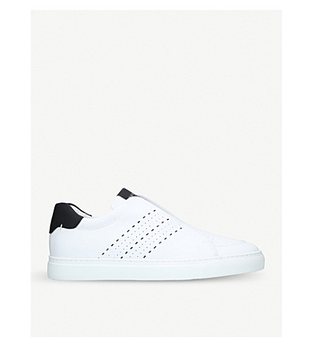 HARRYS LONDON Track leather trainers (White/blk