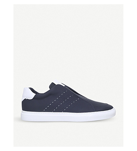 HARRYS LONDON Track Slip leather slip-on trainers (Blue+other