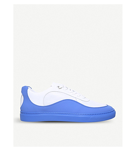 HARRYS LONDON Wave two-tone leather trainers (White/oth