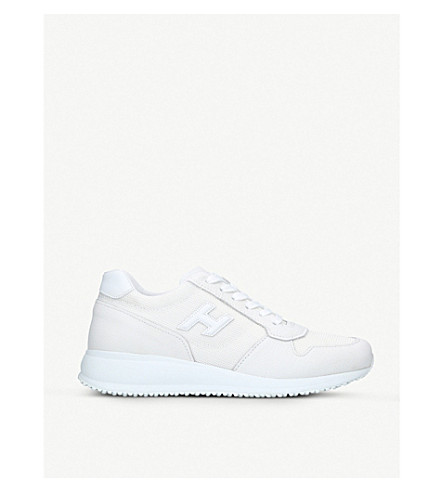 HOGAN N20 suede and mesh runner trainers (White