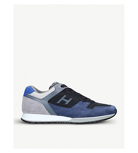 HOGAN H321 suede and mesh trainers (Blue