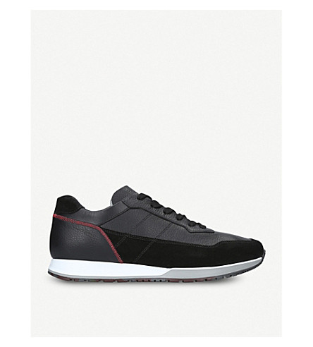 HOGAN 321 tonal leather trainers (Black