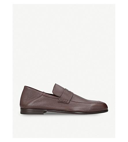 HARRYS LONDON Edward leather loafers (Dark+brown
