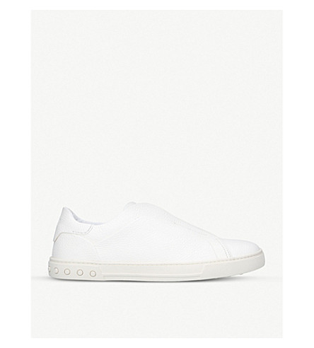 TODS Casseta leather trainers (White
