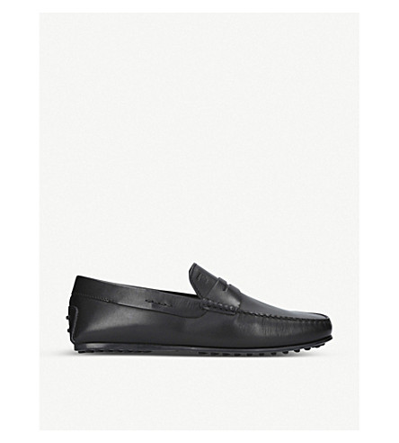 TODS City leather driver loafers (Black