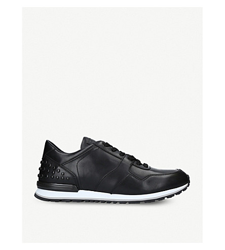 TODS Pebbled leather trainers (Black