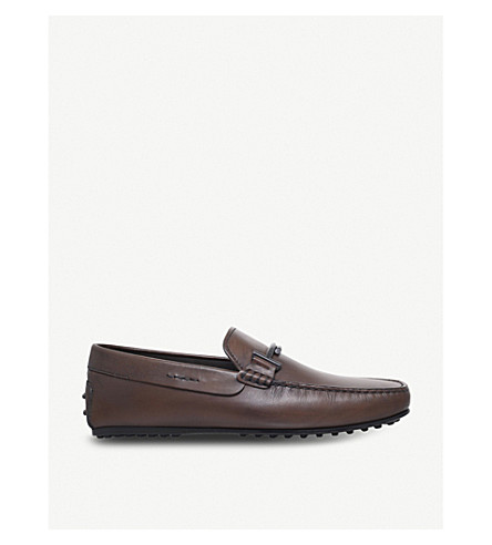 TODS City leather driving shoes (Brown