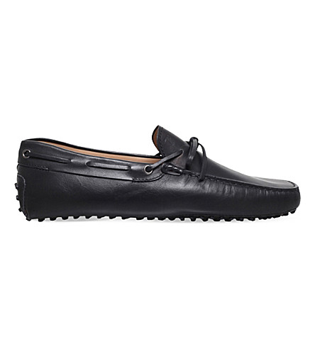 TODS City gommino leather driving shoes (Black