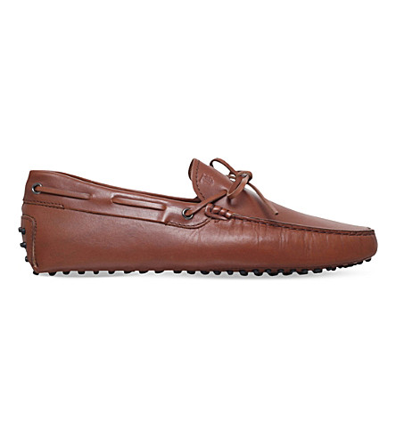 TODS 122 leather driver loafers