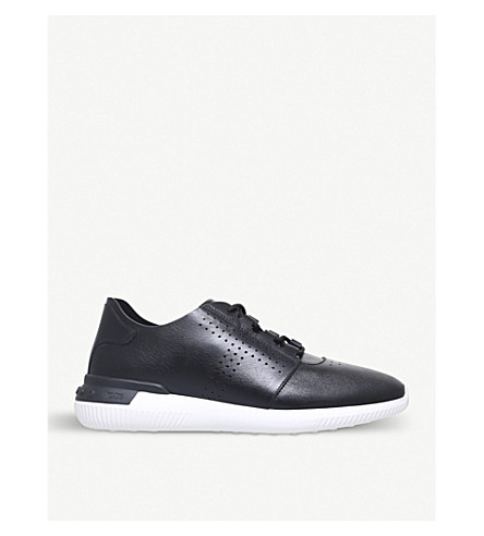 TODS Perforated leather trainers (Blk/white