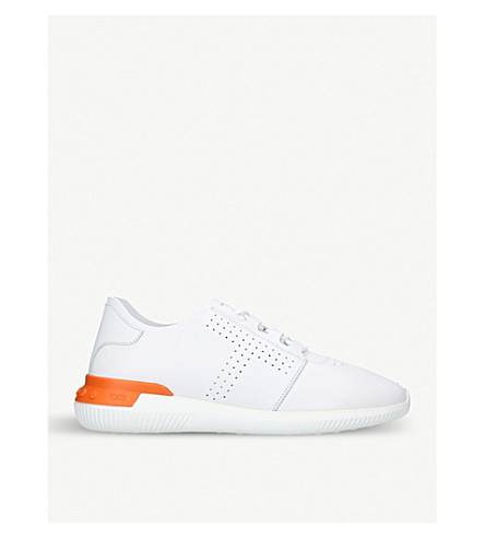TODS Perforated leather trainers (White