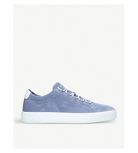 TODS Fondo Cassetta suede trainers (Pale+blue