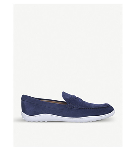TODS New Owens suede loafers (Navy