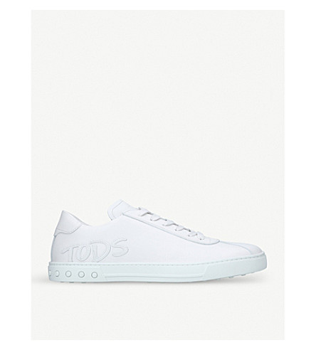 TODS Cassetta logo leather trainers (White