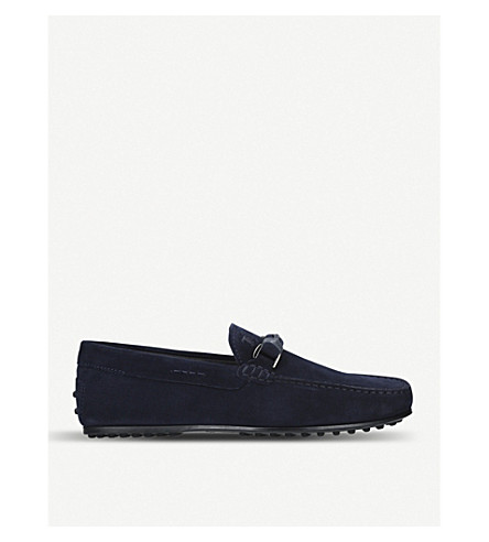 TODS Anello City Driver suede driving shoes (Navy