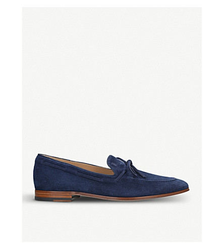 TODS Lacetto slip-on suede mocassins (Navy