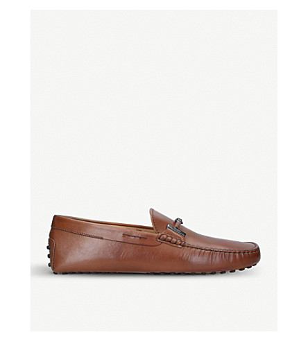 TODS Ricoperta leather driving shoes (Tan