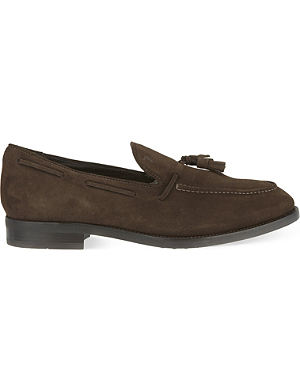 TODS Suede tassled loafers