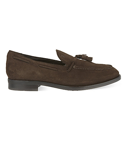 TODS Suede tassled loafers (Brown